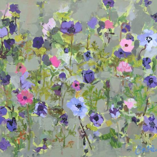 Catrien Art_Schilderij verkocht_Anemonenveld in paars