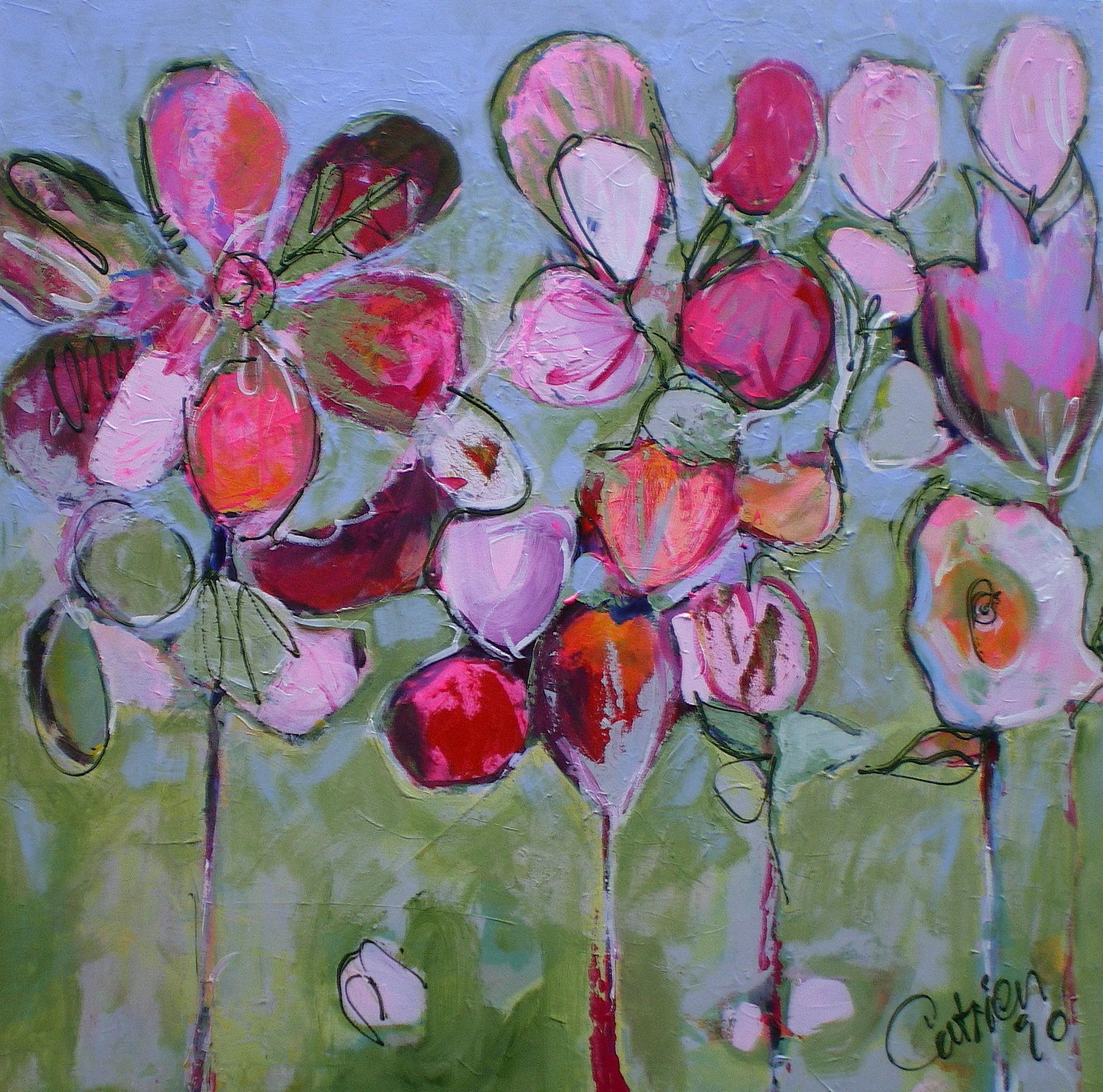 Catrien Art_Schilderij verkocht_Bloemen voor Marie