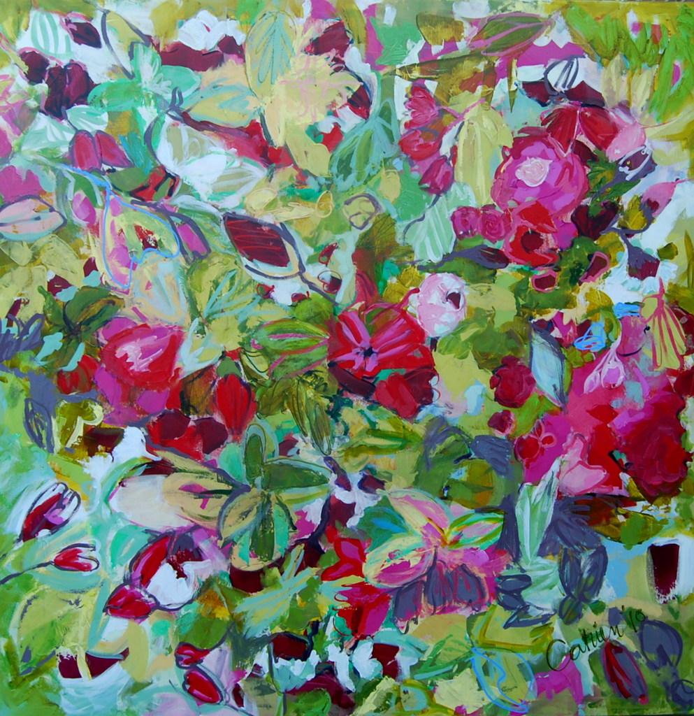 Catrien Art_Schilderij verkocht_Rozen voor mijn kinderen