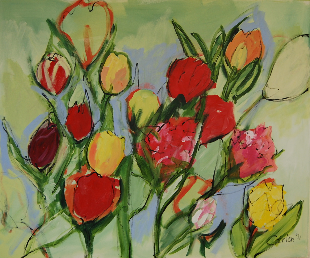 Catrien Art_Schilderij verkocht_Tulpen