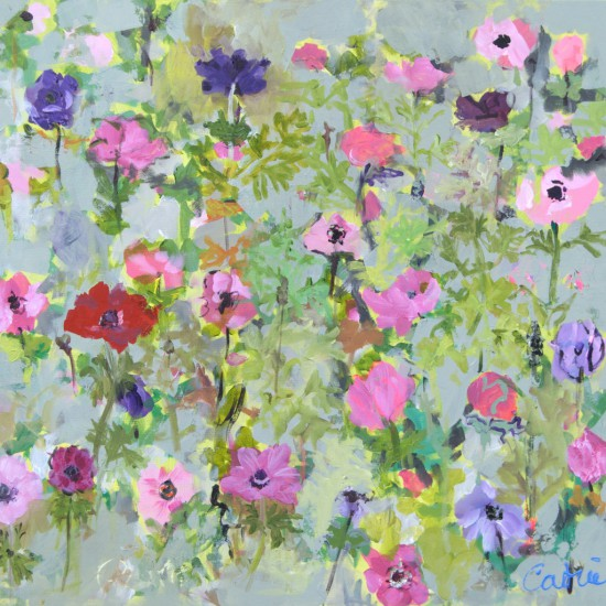 Catrien Art_Schilderij__Anemonenveld in roze